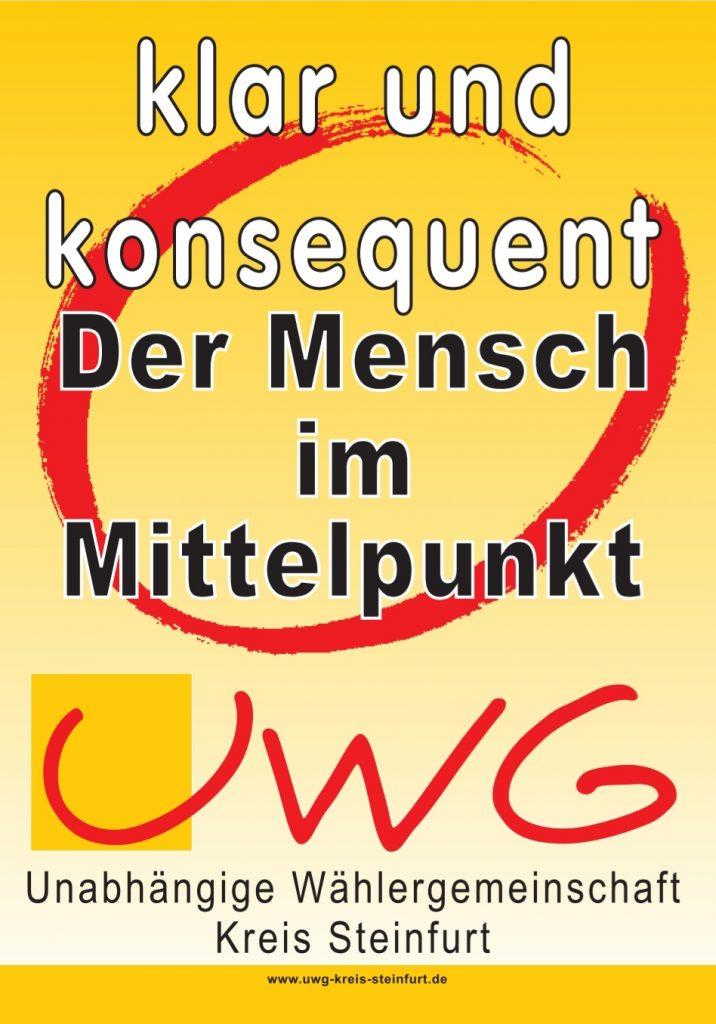Wahlplakat UWG Kreis Steinfurt